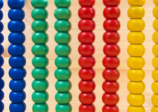 Colorful Abacus for Math Learning as background.  Stock Image