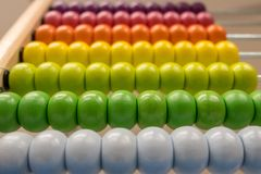 Colorful abacus shallow depth of field. Colorful abacus with shallow depth of field background Stock Photography