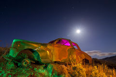 Colorful Abandoned Car stock photos