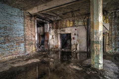 Colorful Abandoned Factory Royalty Free Stock Photography
