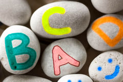 Colorful ABC Letters Stock Photos