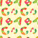Colorful ABC Seamless Pattern Background. Wallpaper stock illustration