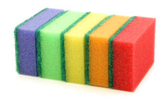 Colorful abrasive pads Royalty Free Stock Photos