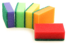 Colorful abrasive pads Stock Image