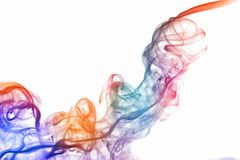 Colorful abstracr smoke isolated on white background. Colorful abstracr smoke isolated on white background Royalty Free Stock Photography