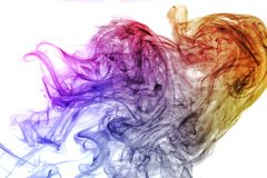 Colorful abstracr smoke isolated on white background. Colorful abstracr smoke isolated on white background Stock Image