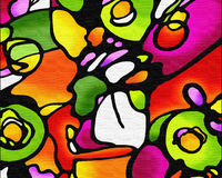 Colorful Abstract. A hand-painted colorful abstract Stock Photo
