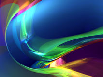 Colorful abstract. Colorful shapes 3D render abstract Royalty Free Stock Photos