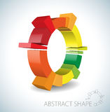 Colorful abstract 3D shape. On light background Royalty Free Stock Photography
