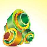 Colorful abstract 3D shape Royalty Free Stock Images