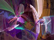 Colorful abstract. Abstract fractal background created with apophysis Stock Images