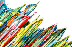 Colorful abstract acrylic. Paint dripping stock images