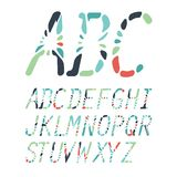 Colorful abstract alphabet made of mosaics Royalty Free Stock Image