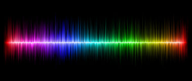 Colorful abstract amplitude Stock Photo