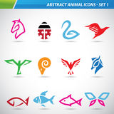 Colorful Abstract Animal Icons Royalty Free Stock Photography
