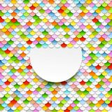 Colorful abstract art background. Paper circles. Vector design Stock Photos