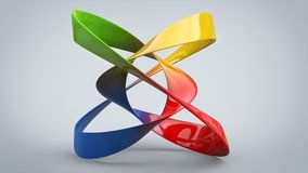 Colorful abstract art sculpture. In studio Stock Photo