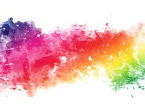Colorful Abstract Artistic Watercolor. Beautiful Colorful Abstract Artistic Watercolor royalty free illustration