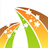 Colorful abstract autumn background. With leaves Stock Illustration