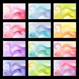 Colorful abstract bacgrounds. Set of colorful abstract bacgrounds Stock Images