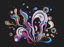 Colorful abstract background. Colorful decorative abstract background, isolated on black Royalty Free Stock Images