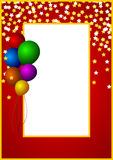 Colorful abstract background. With balloons Stock Images