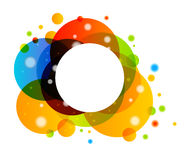 Colorful Abstract Background. With Rainbow Circles Royalty Free Stock Photos