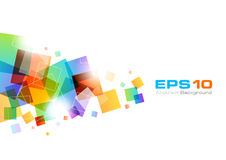 Colorful Abstract Background. Colorful background with rainbow squares Stock Photo