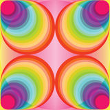 Colorful abstract background. Made of circles Stock Image