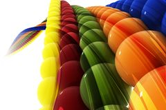 Colorful Abstract Background. 3d image of colorful ball on abstract background Royalty Free Stock Photography