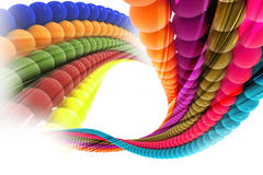 Colorful Abstract Background. 3d image of colorful ball on abstract background Royalty Free Stock Image