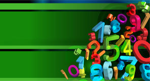 Colorful abstract background. Vector colorful abstract background with 3d numbers Royalty Free Stock Image
