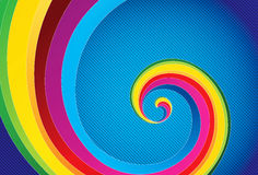Colorful abstract background. Colorful abstract spiral background,   illustration Stock Photos