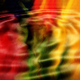 Colorful abstract background. A colourful abstract background with a three-dimensional wavy or ripple pattern running through it Royalty Free Stock Photography