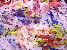 Colorful abstract background. Colorful abstract scrapped background illustration Stock Illustration