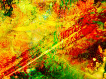 Colorful Abstract Background. Abstract background of bold, bright red, yellow and green colors Stock Photography