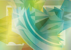 Colorful abstract background. With abstract elements and shapes stock illustration