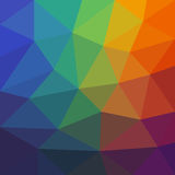 Colorful Abstract Background of Asymmetric Triangles. Universal Bright Colored Background of Geometric Figures Royalty Free Stock Photos