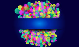 Colorful Abstract background. With balloons on blue background Stock Image