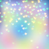 Colorful abstract background. Blurred abstract background with color butterflies stock illustration