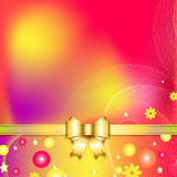 Colorful abstract background with bow Royalty Free Stock Photography