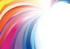 Colorful Abstract Background in Bright Colors. Colored stripes on White Background Illustration, Vector vector illustration