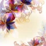 Colorful abstract background Brochures set. Brochures set with floral ornaments Royalty Free Stock Photos