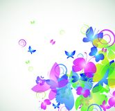 Colorful abstract background with butterfly. Vector illustration stock illustration