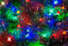 Colorful abstract background with Christmas lights Royalty Free Stock Images