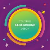 Colorful Abstract background with circular style design. Simple, colorful and stylish design suitable for promotion, web banner, infographic, sale banner, and royalty free illustration