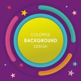 Colorful Abstract background with circular style design. Simple, colorful and stylish design suitable for promotion, web banner, infographic, sale banner, and vector illustration