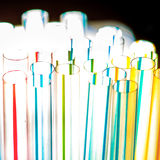 Colorful abstract background with cocktail straws Royalty Free Stock Images