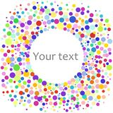 Colorful abstract background of colorful dots, circles. Vector illustration for bright design. Round art round background. Modern pattern decoration. Color Royalty Free Stock Photos