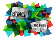 Colorful abstract background consisting of glass polygons. Vector illustration vector illustration